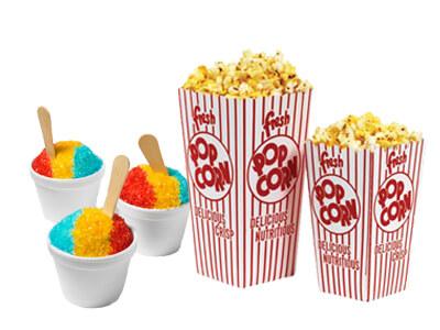 popcorn and snow cone machine rental