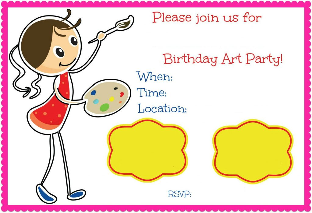 Get creative with your kids birthday invites all in fun get creative with your kids birthday invites filmwisefo